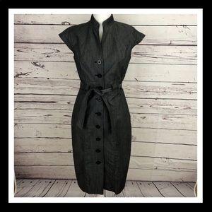 Calvin Klein Short Sleeve Dress w/Belt